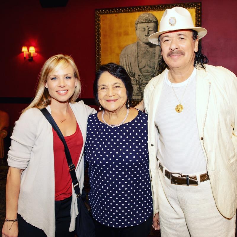Carlos Santana and Dolores Huerta